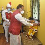 राज्यपालांनी डॉ. देसाई कुटुंबीयांना शोक भेट दिली